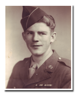 "John ""Reds"" Baker in his army uniform, circa 1940s"